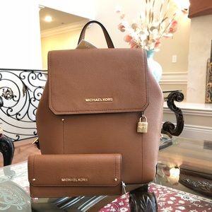 Michael Kors Hayes backpack&wallet weekend sale